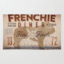 French Bulldog Frenchie Diner Kitchen Artwork by Stephen Fowler Rug
