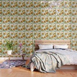 Blooming Sunflowers Wallpaper