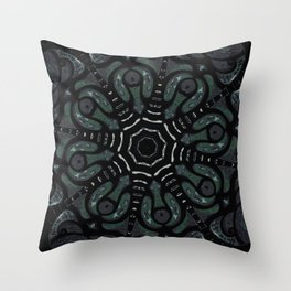 Dark Mandala #4 Throw Pillow