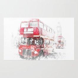 Graphic Art LONDON WESTMINSTER Street Scene Rug