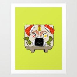 Pug Sushi Art Print