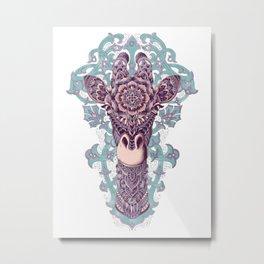 Giraffe (Color Version) Metal Print