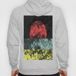 Sunset Beach - Abstract, marble effect, geometric painting Hoody