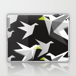 Black and White Paper Cranes Laptop & iPad Skin
