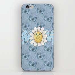 Dreamy Butterflies Roses and Mom iPhone Skin