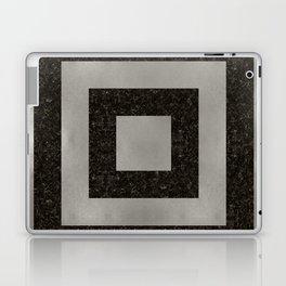 Silver Squares Laptop & iPad Skin