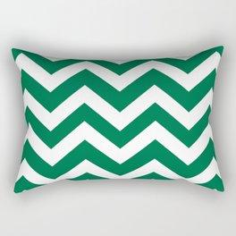 Cadmium green - green color -  Zigzag Chevron Pattern Rectangular Pillow