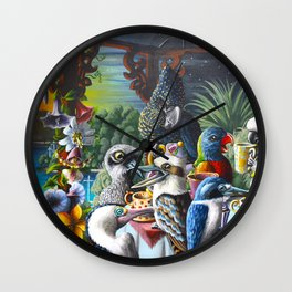 Chit-Chat On The Island Wall Clock