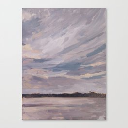 Sunset over the Lake Canvas Print