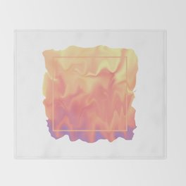 melting colors Throw Blanket