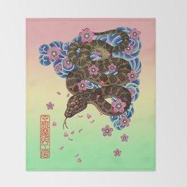 tattoo snake  Throw Blanket