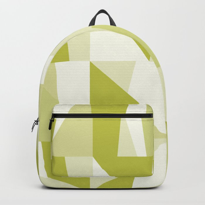 Geometric Green Pattern Backpack