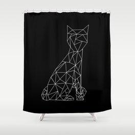 Eleven Quads Cat Shower Curtain