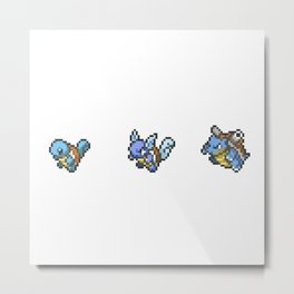 Blue Evolutions Squirtle/Wartortle/Blastoise Metal Print