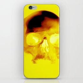Yellow Skull iPhone Skin