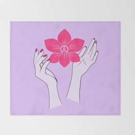 Holy orchid Throw Blanket