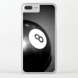Eight Ball-Black Clear iPhone Case