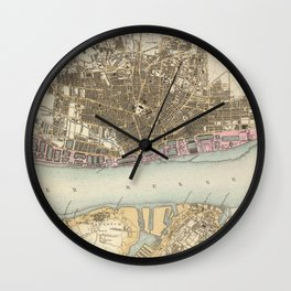 Vintage Map of Liverpool England (1872) Wall Clock