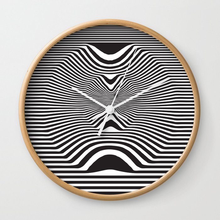 Pop Art Optical Illusion Wall Clock by georgepeters | Society6