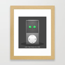 'Two Peas In A Pod' by Digital Slave Framed Art Print