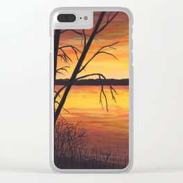 3 Visions Art Sunset Trio part 1 Clear iPhone Case