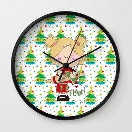 Cooking Christmas Cookies Wall Clock