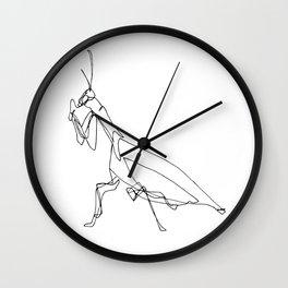 Praying Mantis Blind Contour Wall Clock