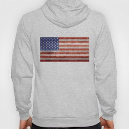 Flag of the United States of America - Vintage Retro Distressed Textured version Hoody