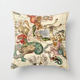 Cetus, Aquarius, Andromeda, Pegasus, Phoenix, Aries, Triangulum And Other Constellations Throw Pillow