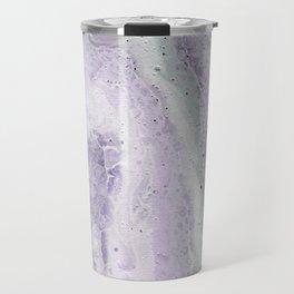 purple and white Travel Mug