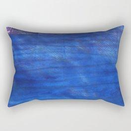 Denim Blue abstract watercolor background Rectangular Pillow