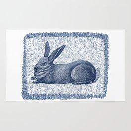 Rabbit print, Vintage Rabbit, Animal Wall Art Rug