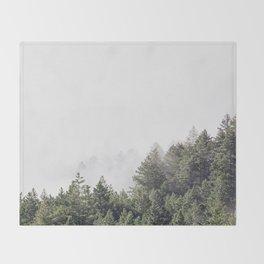 forest / mt. tamalpais Throw Blanket