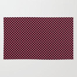 Hippie Pink and Black Polka Dots Rug