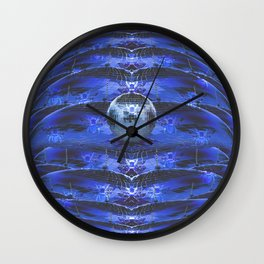 Disco Bee Hive Silver and Blue and Black Wall Clock