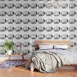 Black and white elephant animal jungle Wallpaper