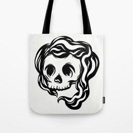 Tribal illustrated skull Tote Bag
