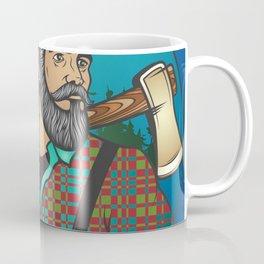 Hipster Lumberjack Blue Coffee Mug