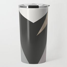 Abstract geometrical faux gold black gray triangles pattern Travel Mug