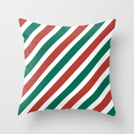 Holiday Stripes Throw Pillow