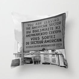 Checkpoint Charlie Berlin Throw Pillow
