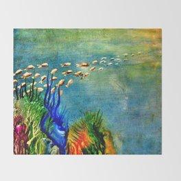 Fish Swarm Throw Blanket