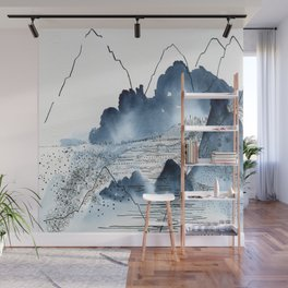 Love of mountains landscape format Wall Mural