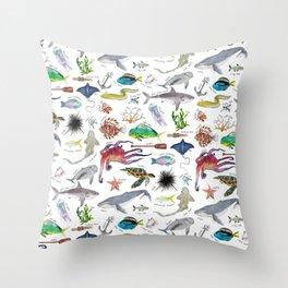 Under the Sea Alphabet Throw Pillow