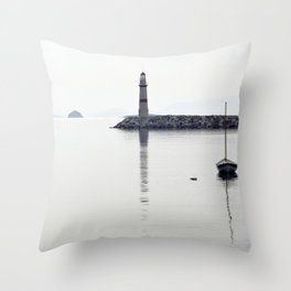 light house in bodrum Throw Pillow