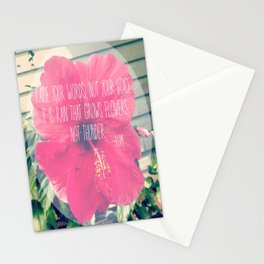 Raise your words, not your voice. Stationery Cards