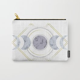 Marble Moon Phases Carry-All Pouch
