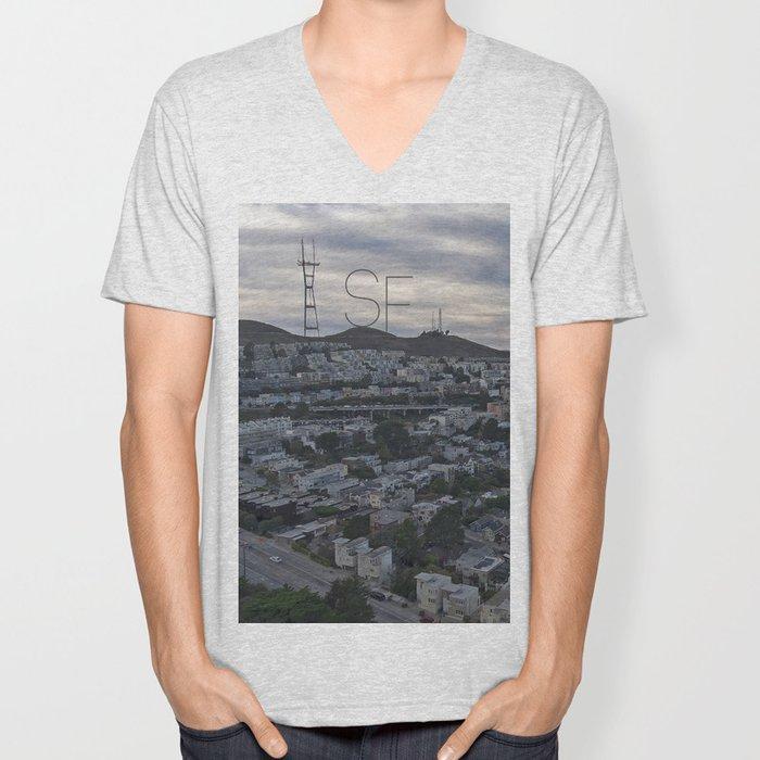San Francisco - Sutro Tower Chill Unisex V-Neck