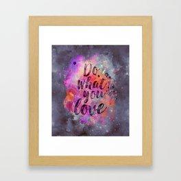 Do what you love! Orange Pink Typo Art Framed Art Print