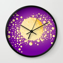 Champagne Bubble Background Wall Clock